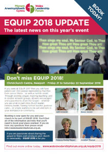 Wales Leadership Forum EQUIP 2018 flyer cover