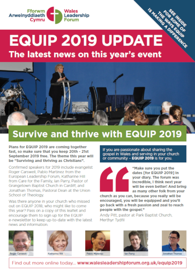 Wales Leadership Forum EQUIP 2019 update - March 2019
